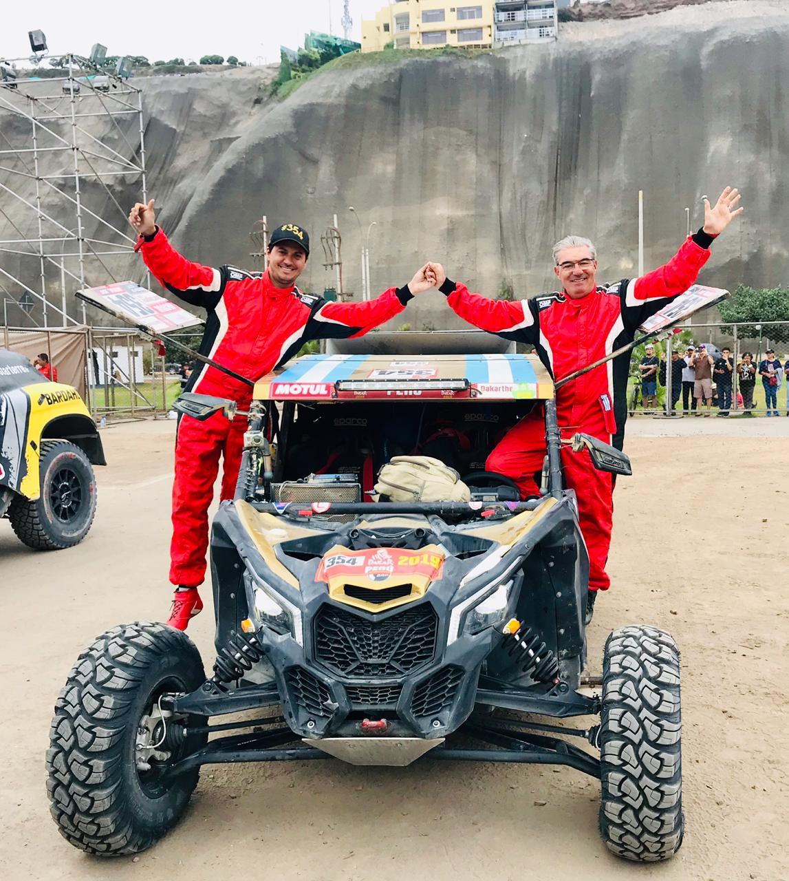 Omar Gandara finalizó el Dakar 2019