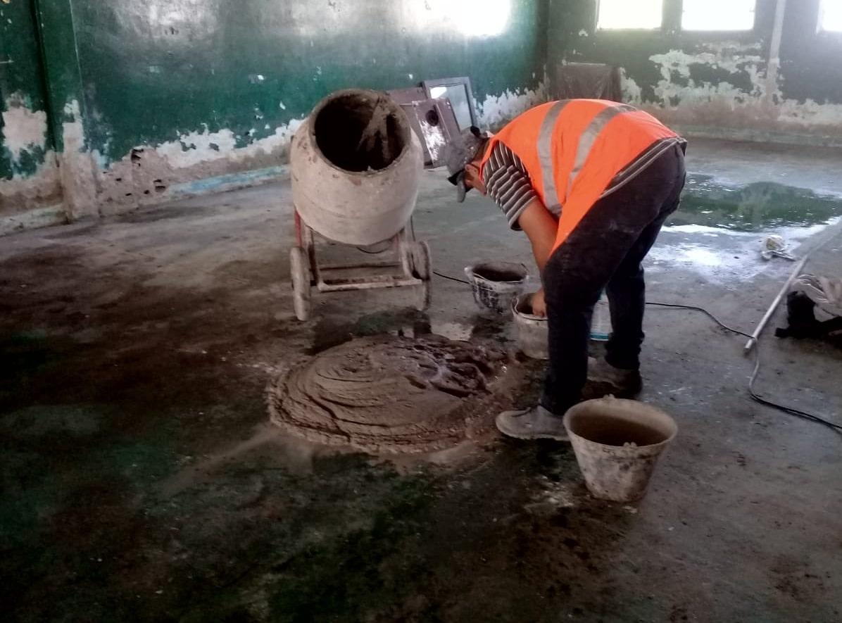 Comenzaron los trabajos de reparación en la Escuela Secundaria Nº58