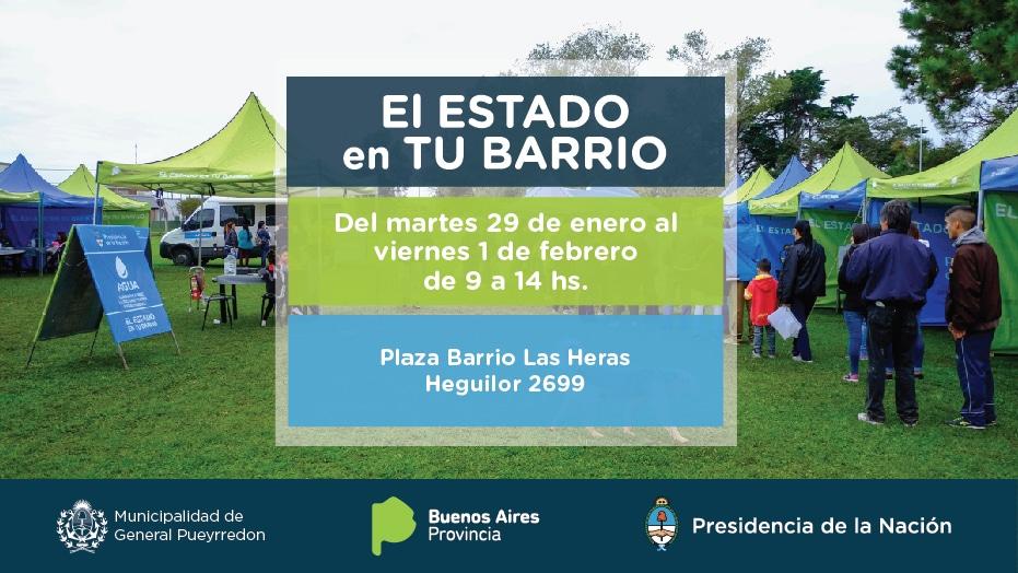 El Estado en tu Barrio visita el barrio Las Heras
