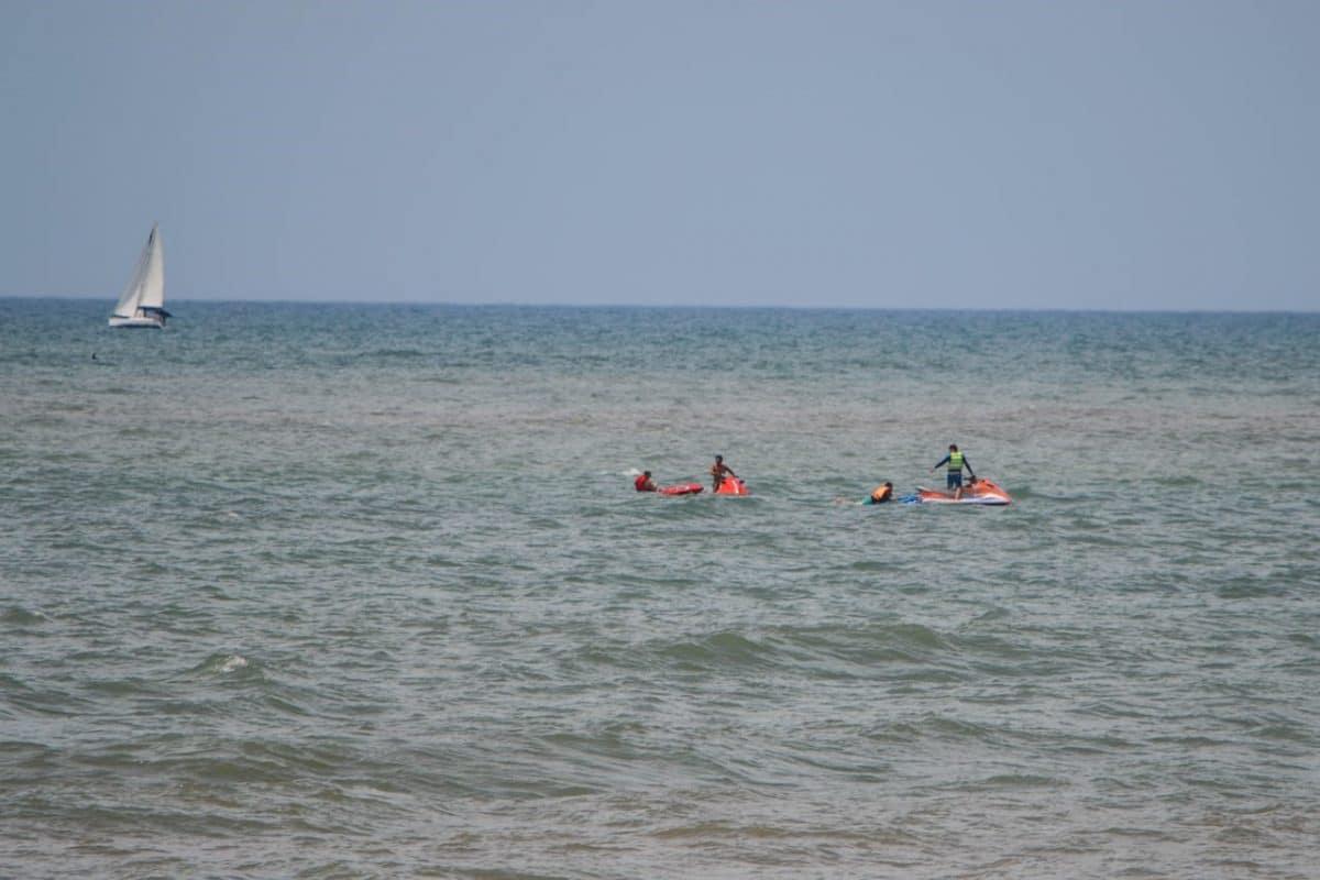 Ayer poco antes de las 13.00hs se activo el protocolo de rescate de embarcaciones en el mar