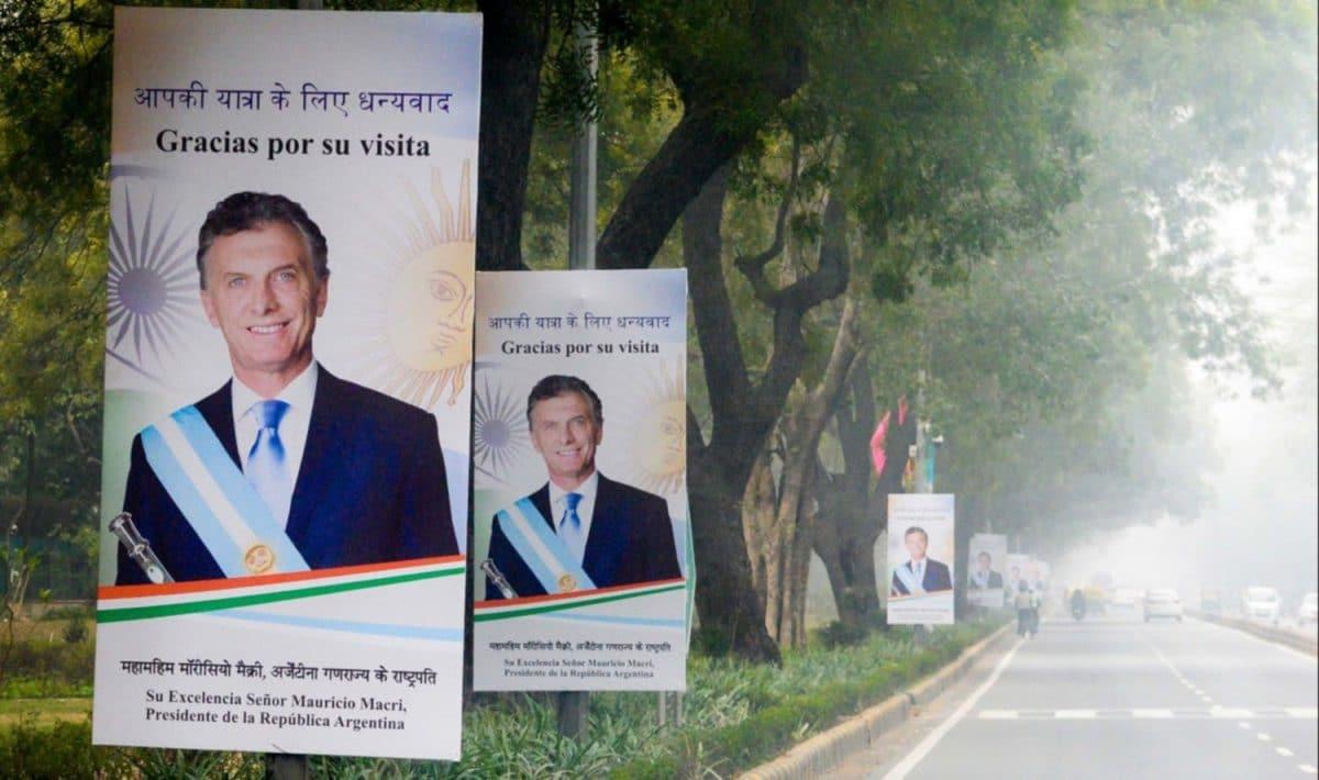 Macri comienza su visita oficial a la India acompañado por una comitiva de 120 empresarios