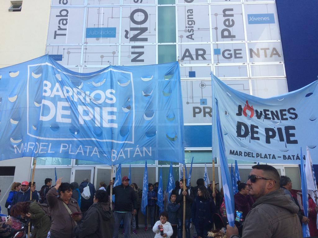 Barrios de Pie realiza toma pacífica de Anses