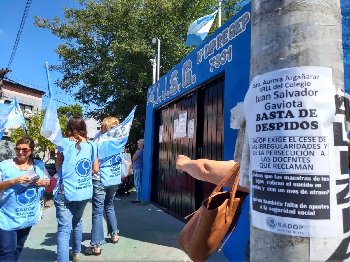 SADOP denuncia graves irregularidades en un colegio privado de Mar de Ajo