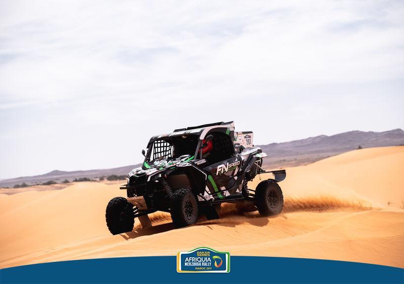 Omar Gandara completó la segunda etapa del Rally de Merzouga