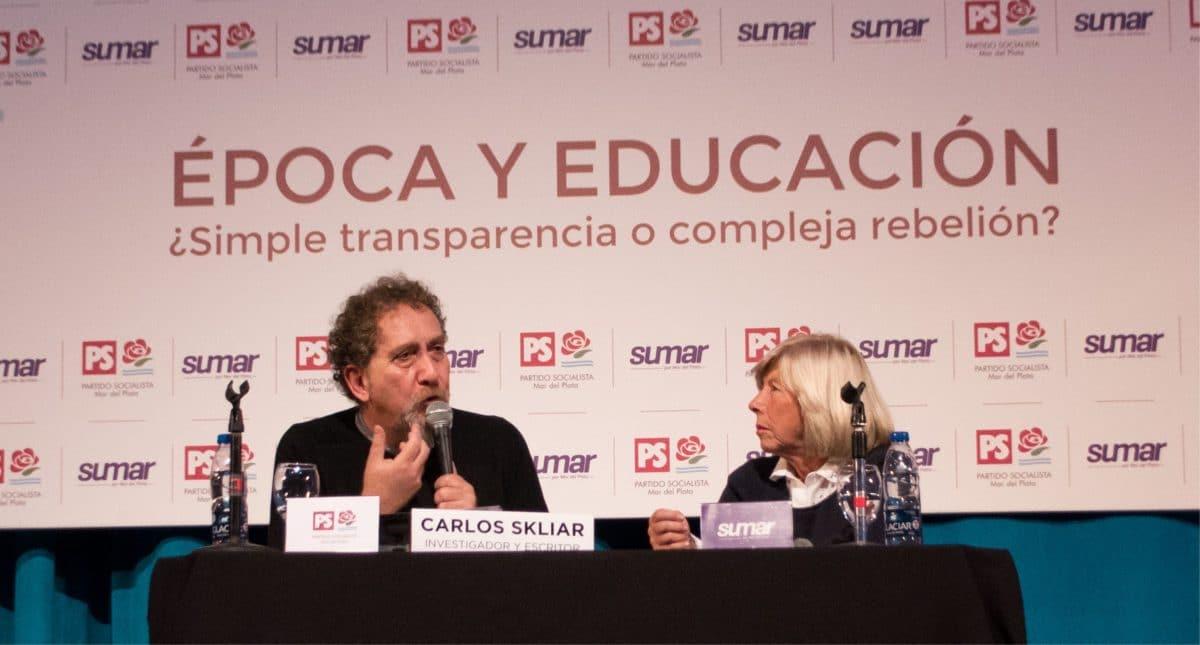Carlos Skliar dio una charla en Mar del Plata