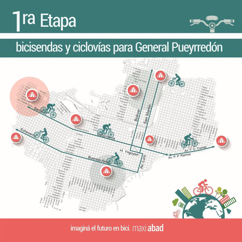Con una bicicleteada, Abad promueve ciclovías en Mar del Plata