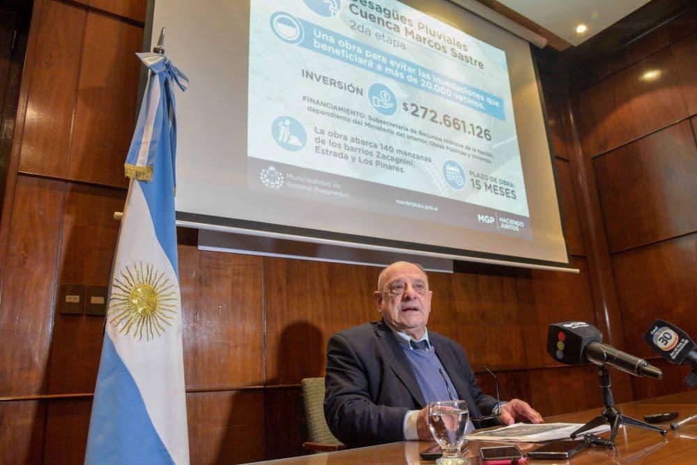 Anuncian una obra pluvial que beneficiará a 20.000 marplatenses