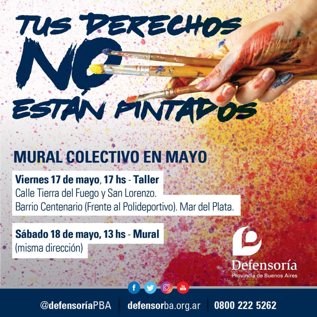"""""""Tus Derechos no están Pintados"""",  Jornada de muralismo y promoción de derechos de la Defensoría del Pueblo"""