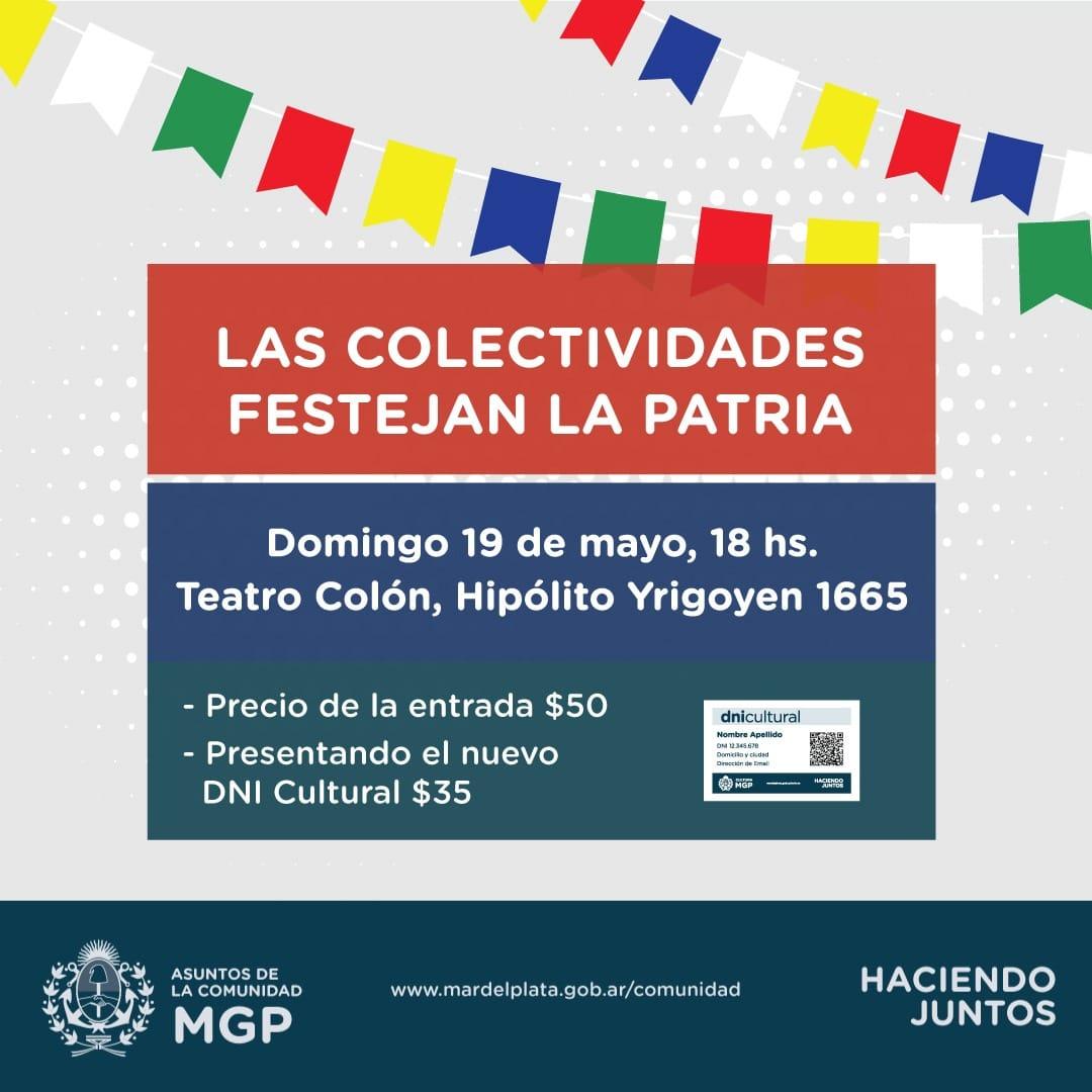 Realizarán un Festival Artístico de las Colectividades en el Colón