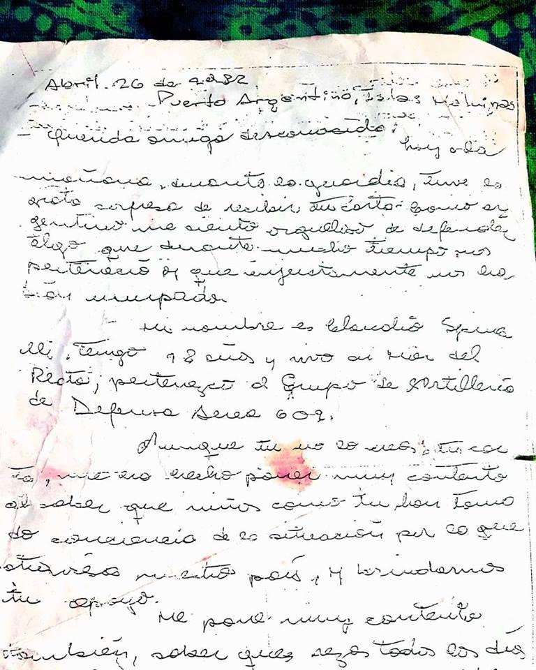 Malvinas, una carta y una búsqueda que duró 37 años