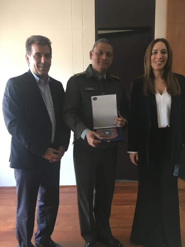 Vidal y Ritondo se reunieron con el Director General de la División de Antinarcóticos de Colombia