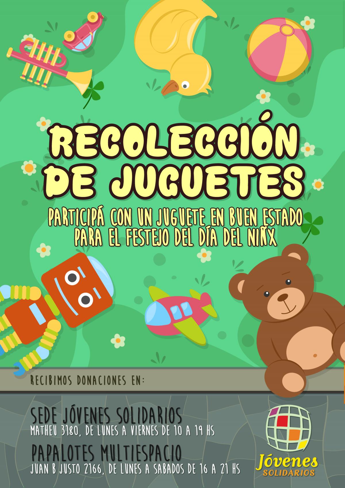 """Jóvenes Solidarios recolecta juguetes para el """"Festejo del día del niñx"""""""