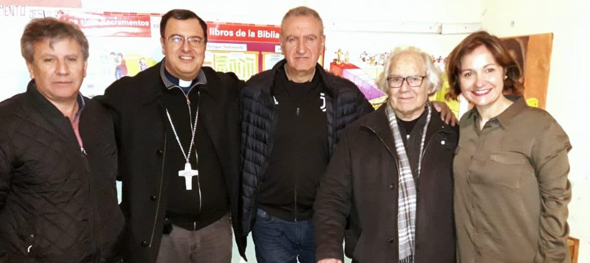 Monseñor Mestre, Pérez Esquivel y Vito Amalfitano en la misa por la Paz