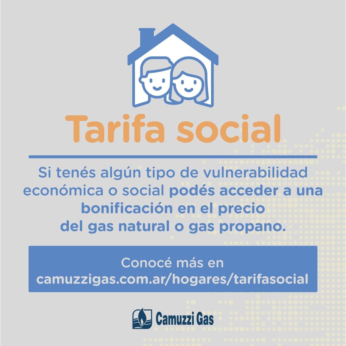 Camuzzi anuncia cambios para acceder la Tarifa Social