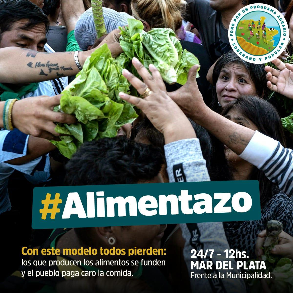 """Pequeños productores realizarán un """"Alimentazo"""" frente a la Municipalidad"""