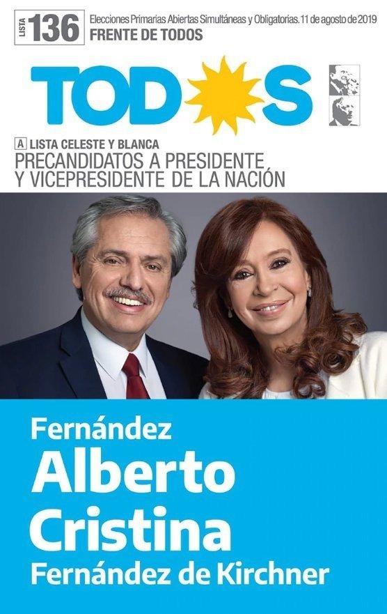 Se dieron a conocer las boletas de las fórmulas presidenciales para las PASO
