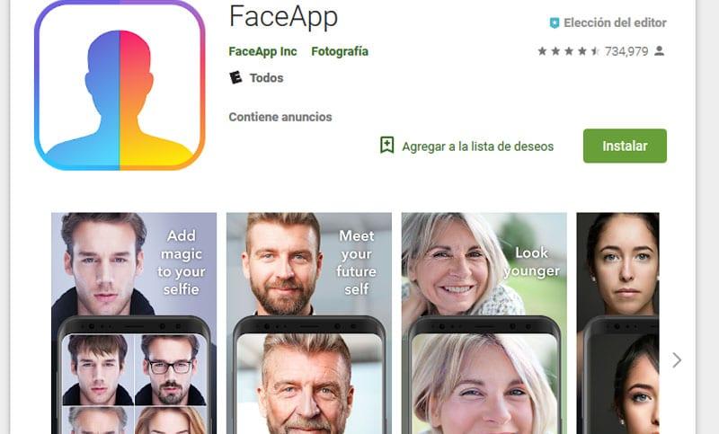 Advierten sobre los riesgos de la FACEAPP, la aplicación furor del momento