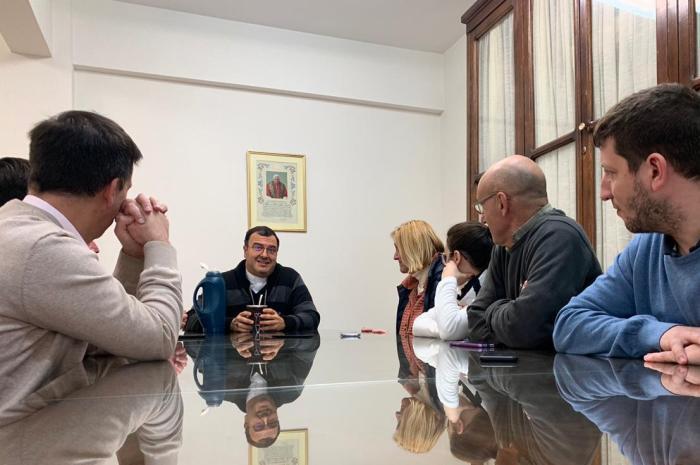 Baragiola se reunió con el obispo de Mar del Plata