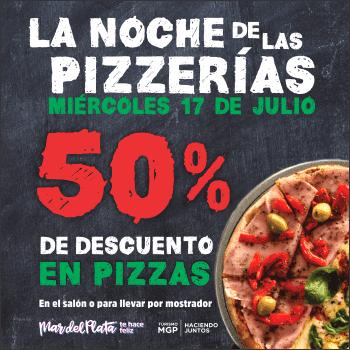 """El turno de la """"Noche de las Pizzerías"""" en Mar del Plata"""