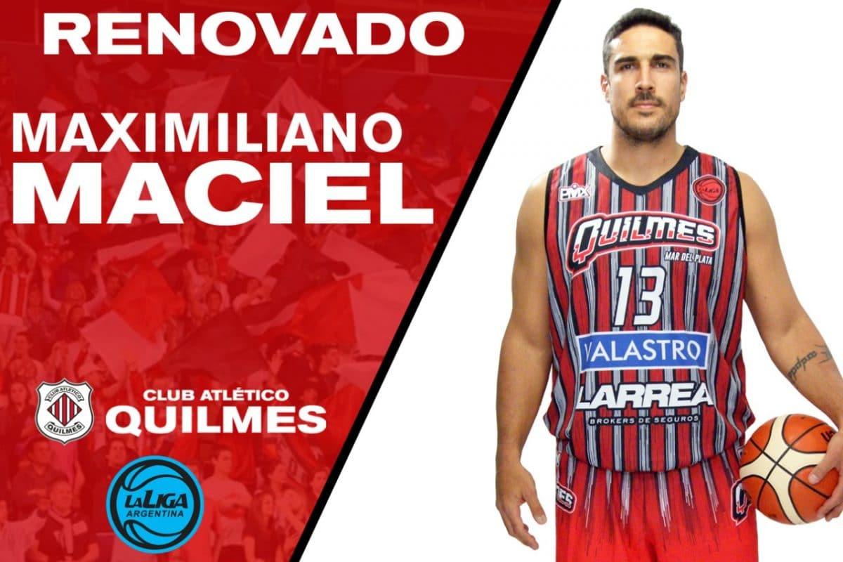 Básquet: Maciel sigue en Quilmes