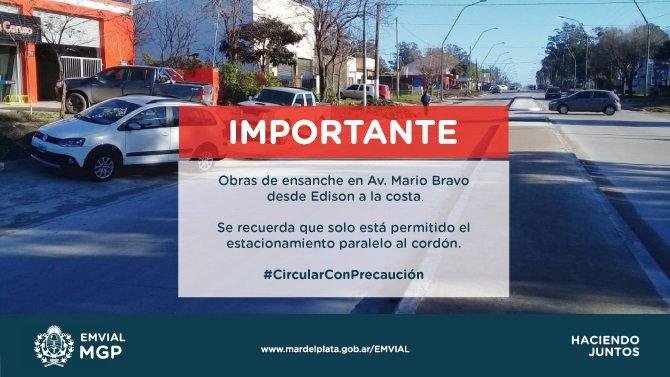 Aclaran que el estacionamiento en Mario Bravo debe ser paralelo al cordón