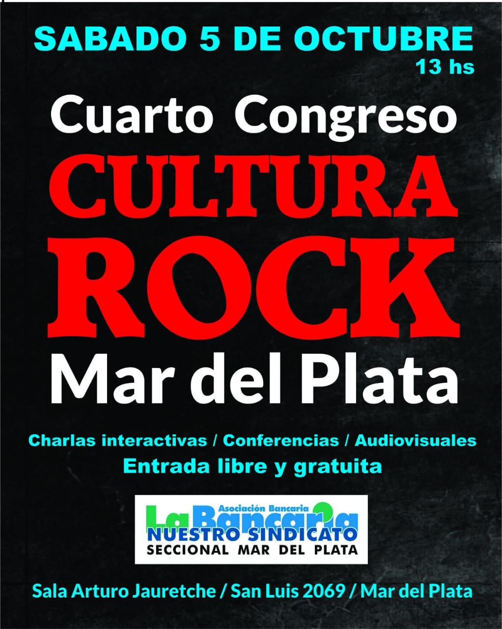 """""""SE REALIZARÁ EL IV CONGRESO CULTURA ROCK MAR DEL PLATA"""""""