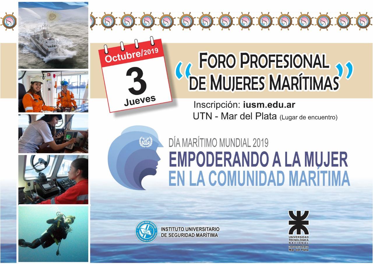 Realizarán el Primer Foro Profesional de Mujeres Marítimas en Mar del Plata