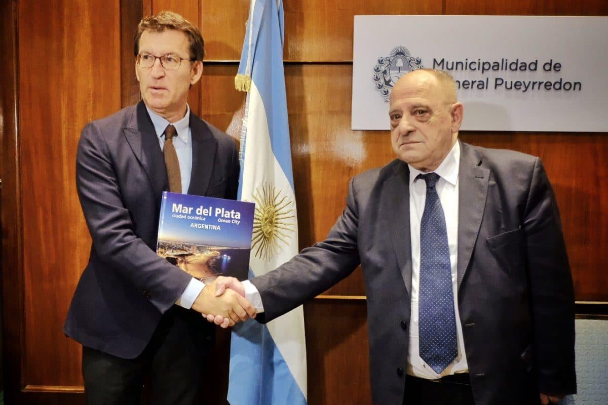 Arroyo recibió al Presidente de la Xunta de Galicia