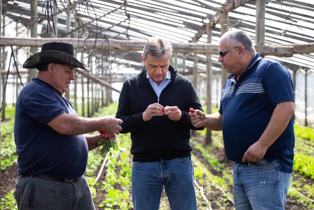Pulti se reunió con productores frutihorticolas en Parque Palermo