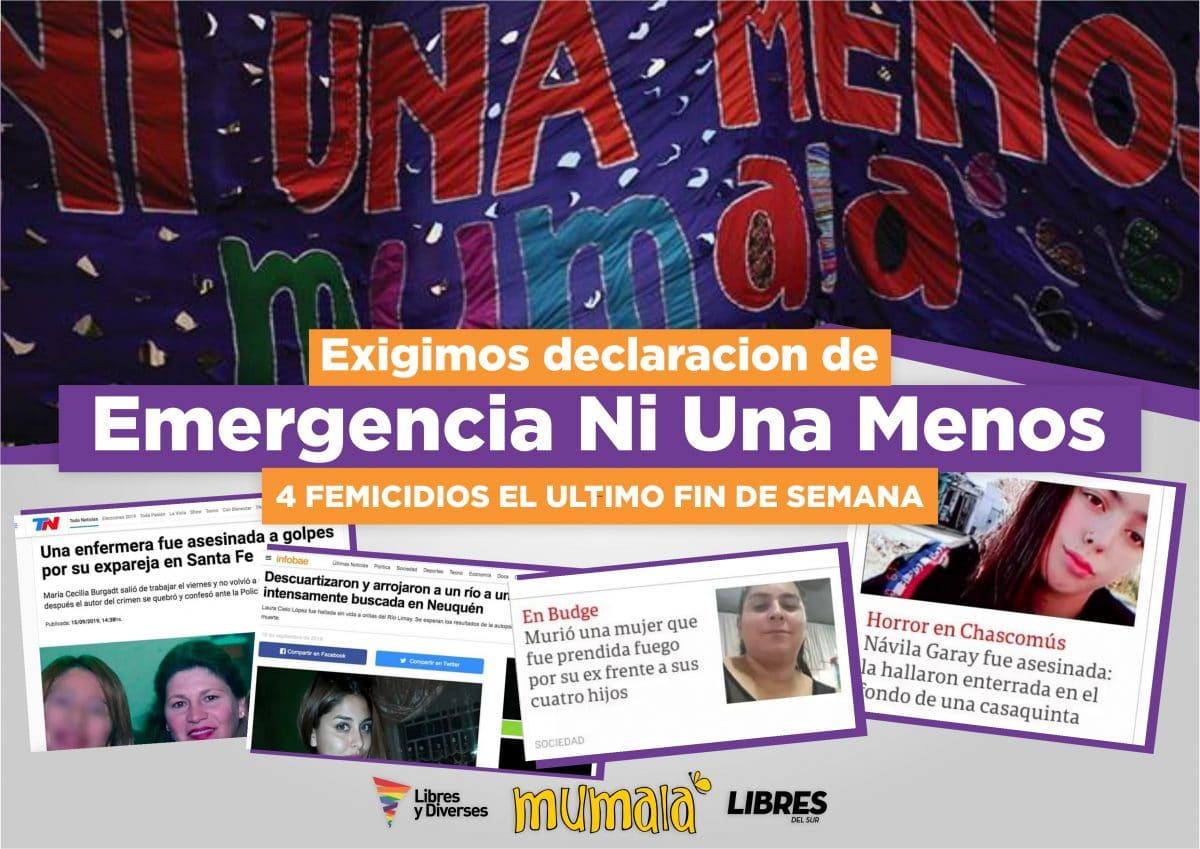 Emergencia #NiUnaMenos: tras los femicidios, habrá una movilización en Mar del Plata