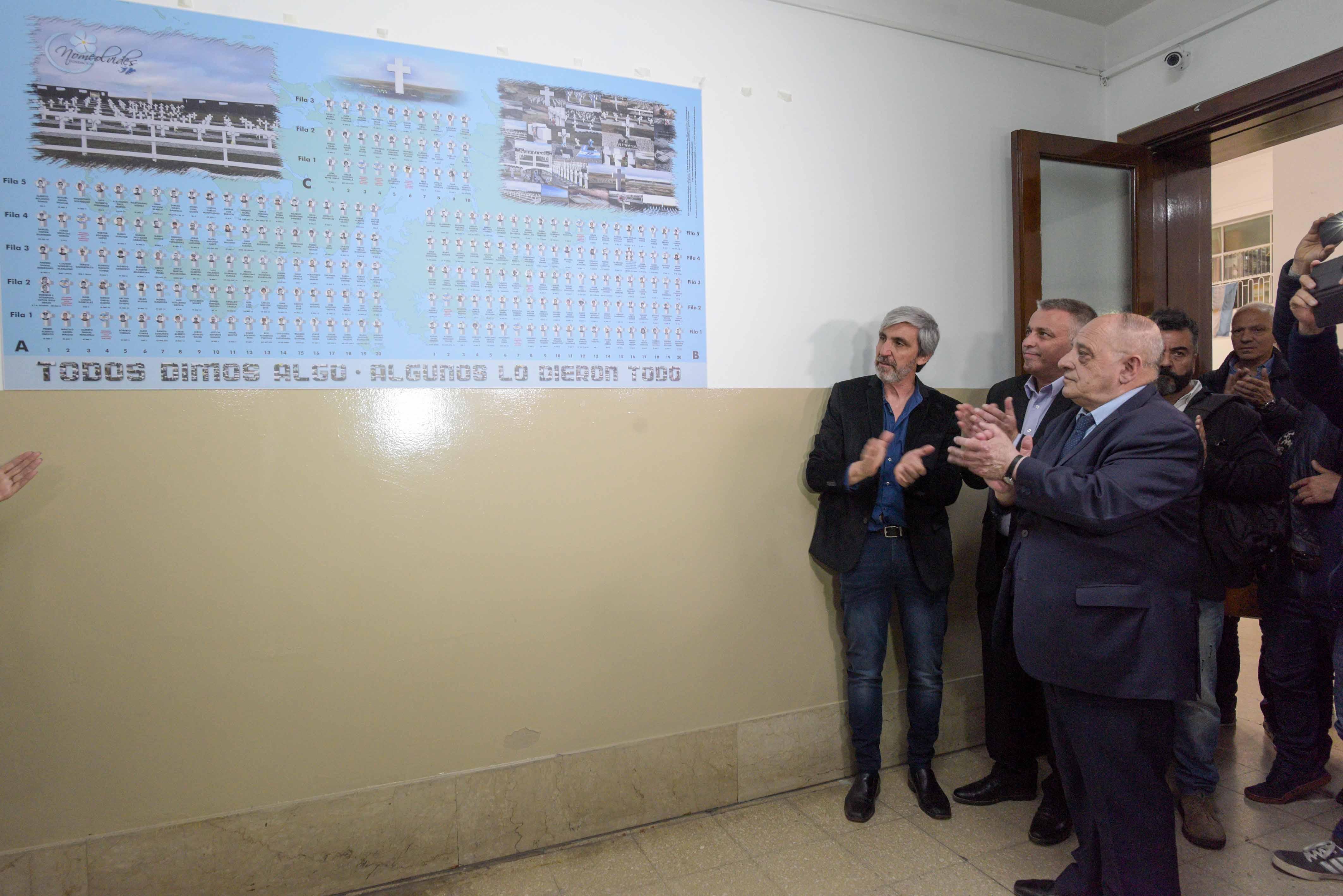 Se inauguró el mural del Mapa del Cementerio Argentino de Darwin en Malvinas