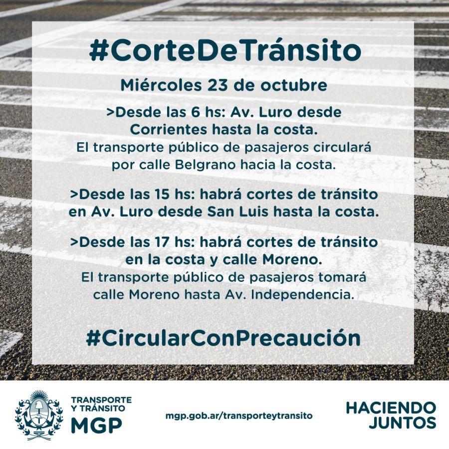 Cortes de calle por el acto del presidente Macri