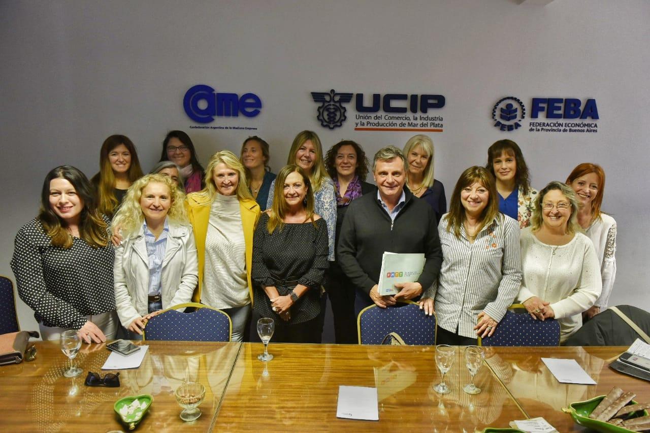 Pulti se reunió con la Comisión de Mujeres Empresarias de la UCIP