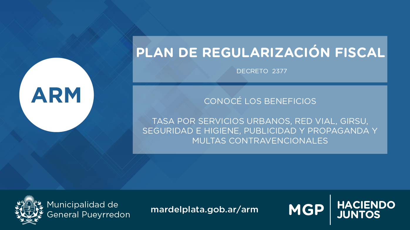 El Municipio extendió el plazo del Plan de Regularización Fiscal