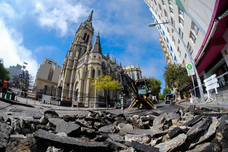 El municipio finalizó con la puesta en valor de los cruces de la Peatonal