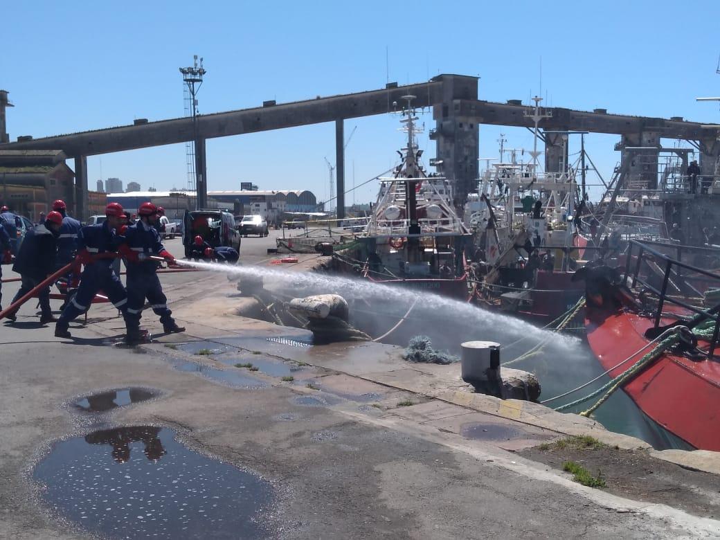 Realizaron un simulacro de atentado en el puerto de Mar del Plata