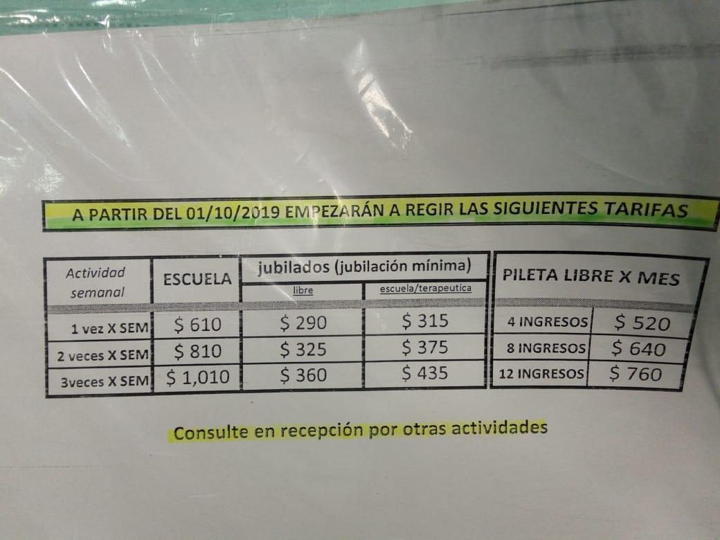 Rigen nuevas tarifas en el Natatorio del EMDER con fuertes subas