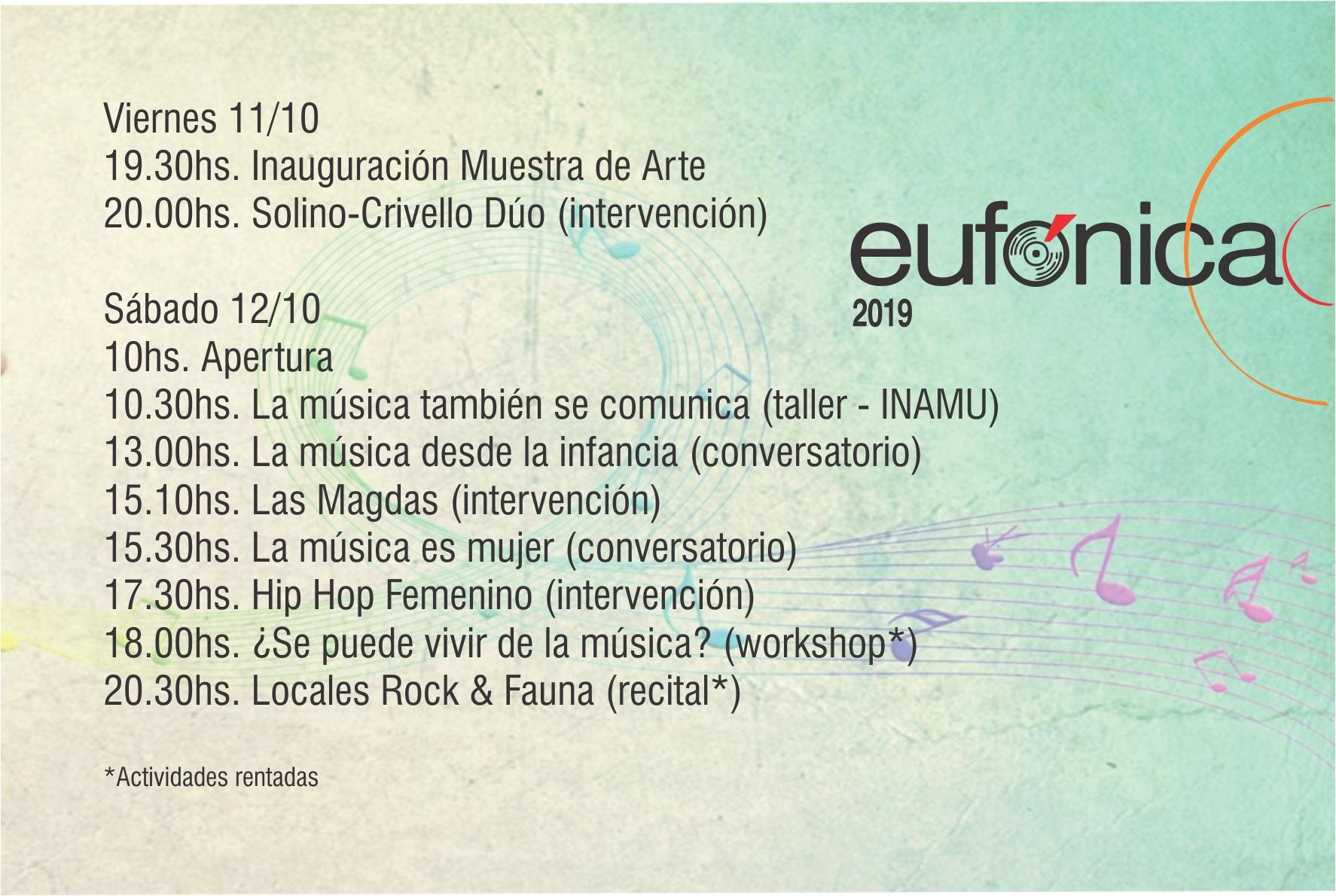 EUFÓNICA 2019: Encuentro de la industria musical en Mar del Plata