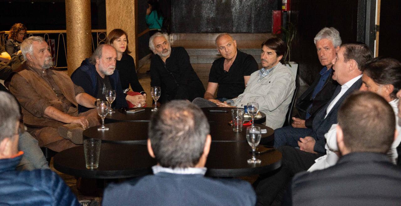 Montenegro se reunió con productores teatrales