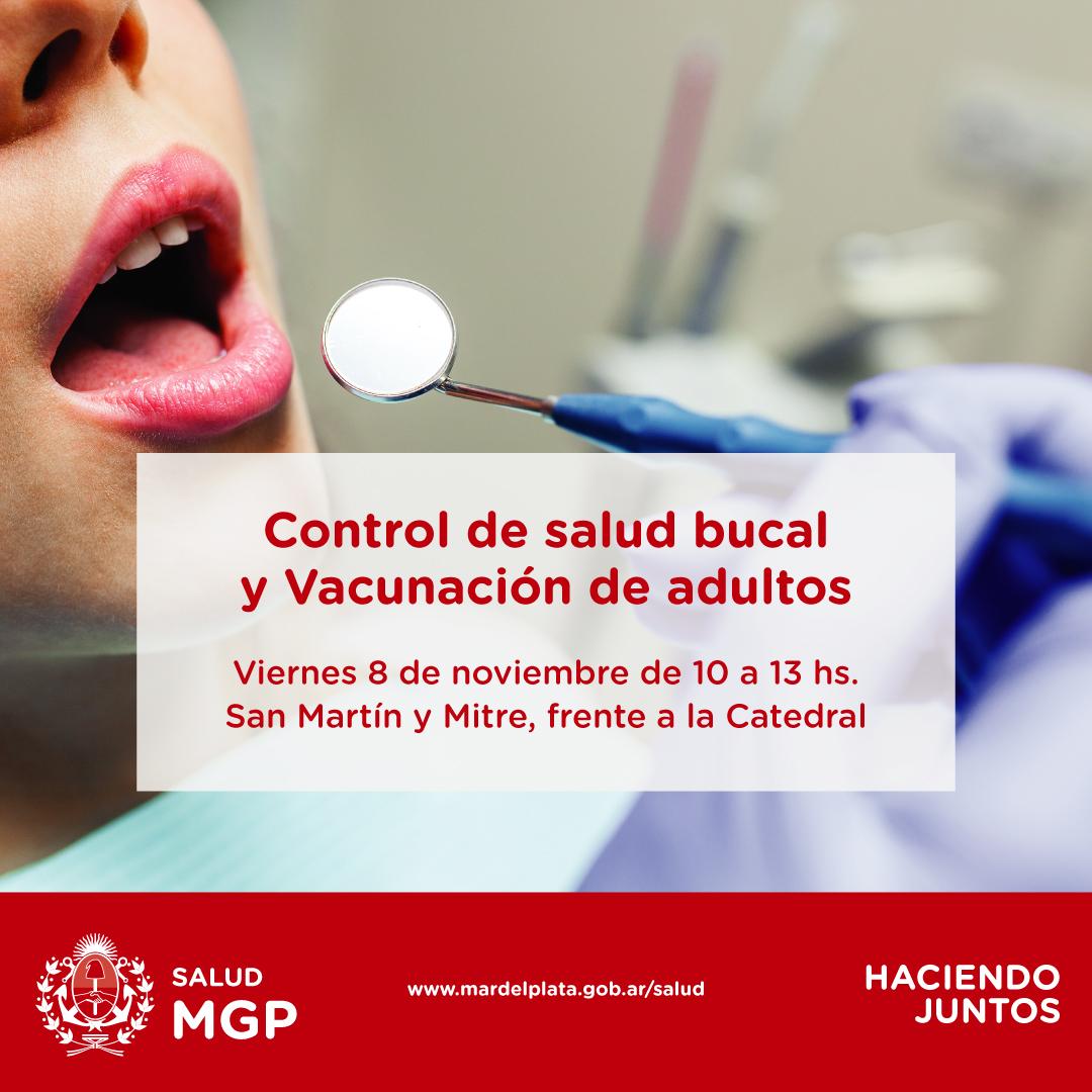El Municipio realizará una nueva jornada de vacunación para adultos y control bucal frente a la Catedral