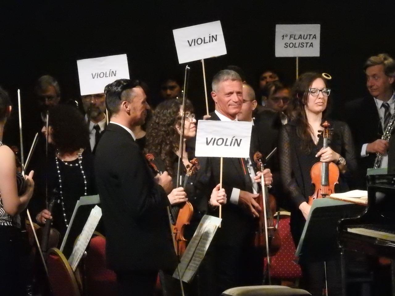 Concierto y reclamo de la Orquesta Sinfónica Municipal
