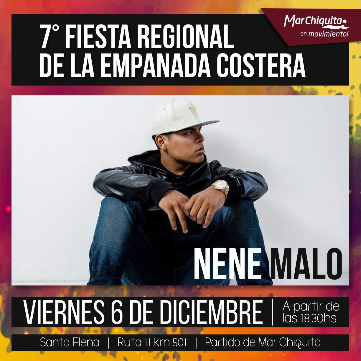 Con NENE MALO como artista principal llega la 7ma Fiesta Regional de la Empanada Costera