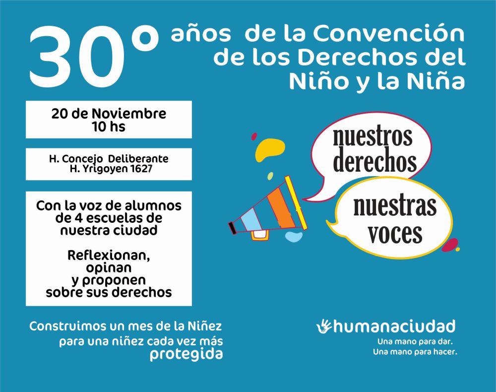 Mes de la Niñez: diálogo entre alumnos en el Concejo Deliberante
