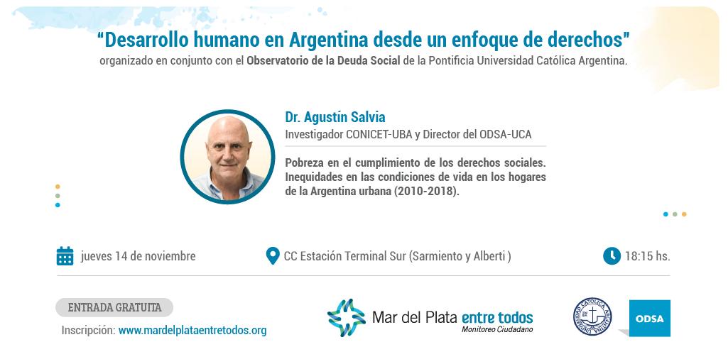 Mar del Plata Entre Todos realiza un encuentro junto al Observatorio de la Deuda Social de la UCA