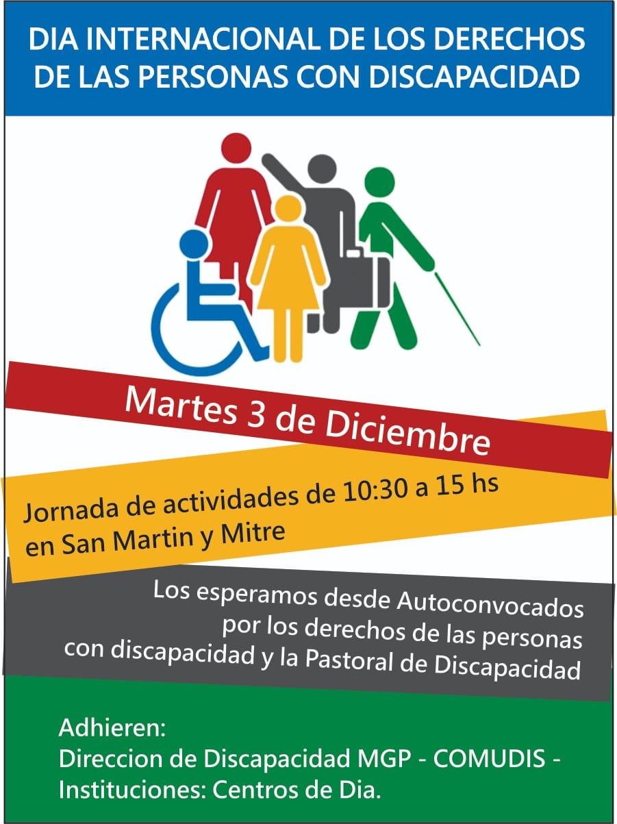 Diversas actividades por el Día Mundial de la Discapacidad