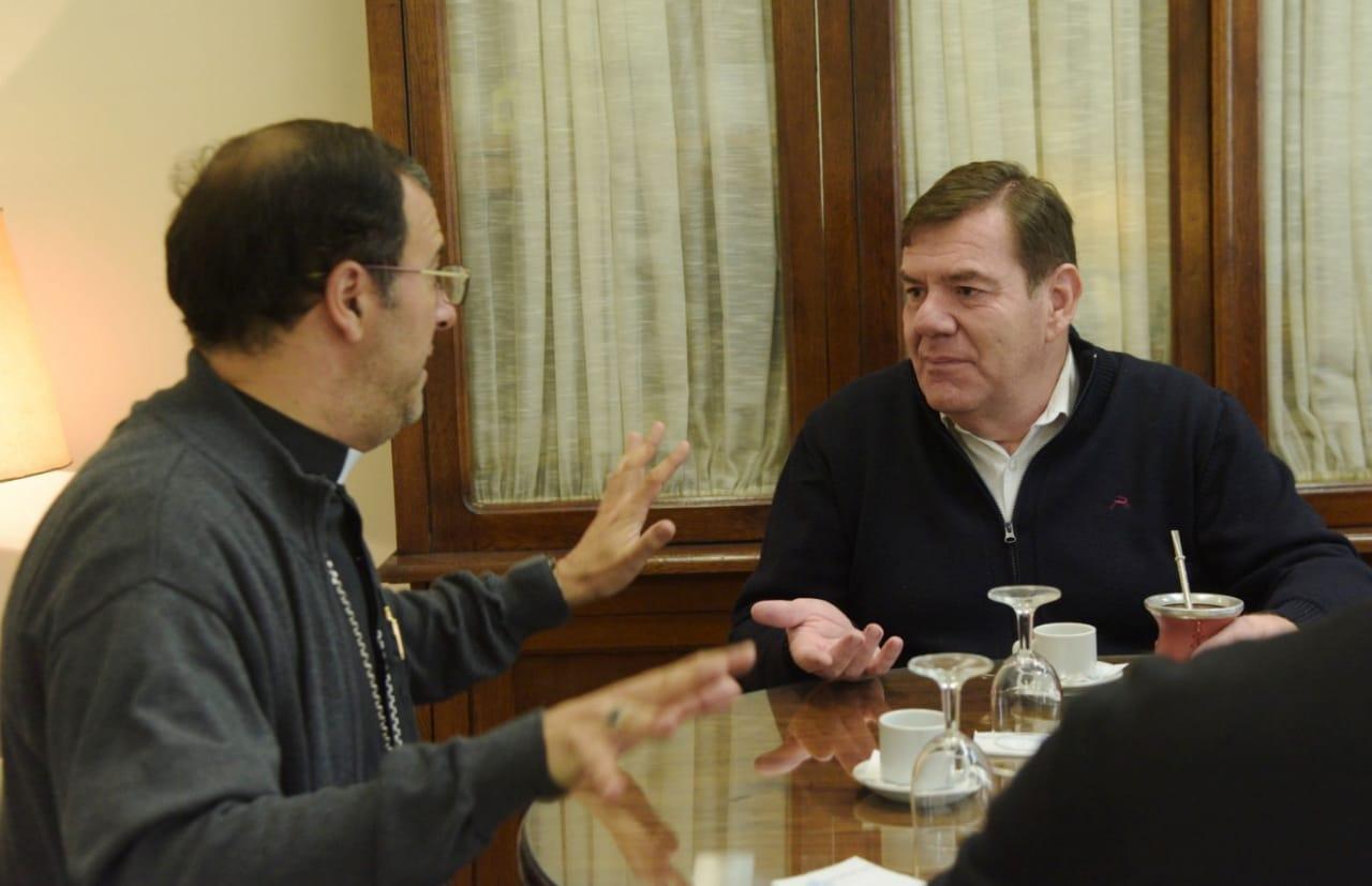 """Montenegro con el Obispo: """"se busca mejorar la calidad de vida del vecino"""""""
