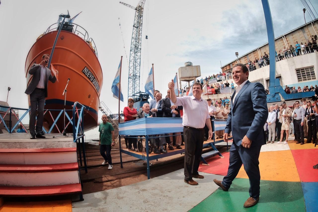Un nuevo buque pesquero fue botado en el puerto de Mar del Plata