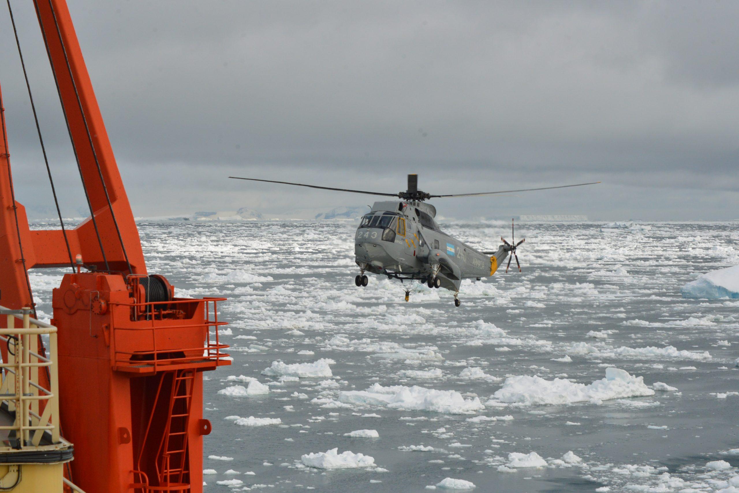 Marino marplatense en campaña antártica