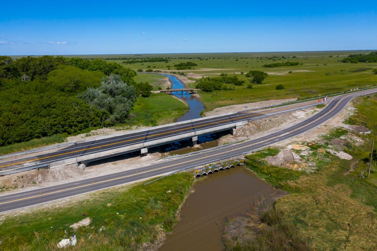 Ruta 11: Se inauguraron tres nuevos puentes y ya pueden circular micros y camiones