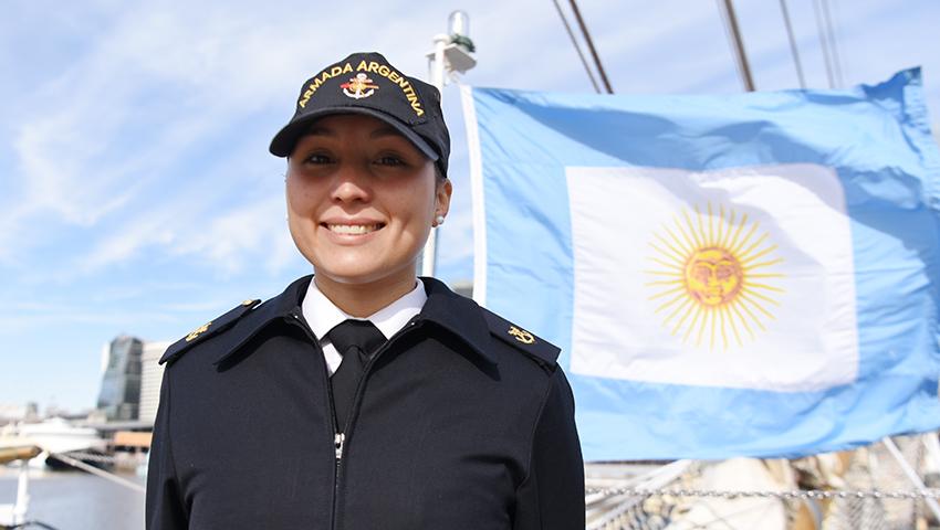 """Una marplatense a bordo de la fragata ARA """"Libertad"""""""